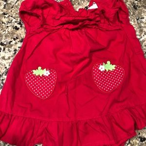 Gymboree Dresses - Gymboree red strawberry dress 6-12 month